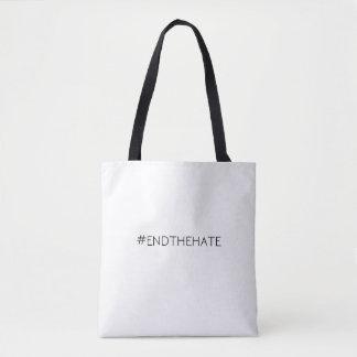 Bolsa Tote Sacola do impressão do #EndTheHate toda sobre -