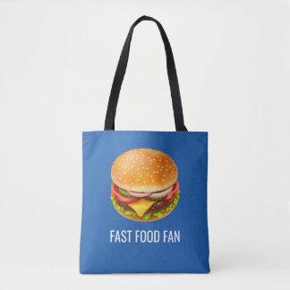 Bolsa Tote Sacola do impressão do fã do fast food toda sobre