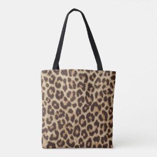 Bolsa Tote Sacola do impressão do impressão do leopardo toda