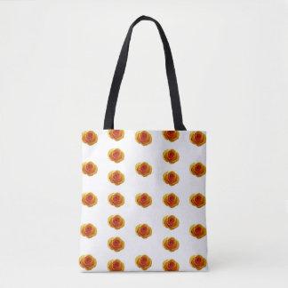 Bolsa Tote Sacola do impressão do rosa amarelo