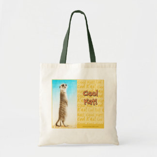 "Bolsa Tote ""Sacola do Kat legal"" Meerkat"