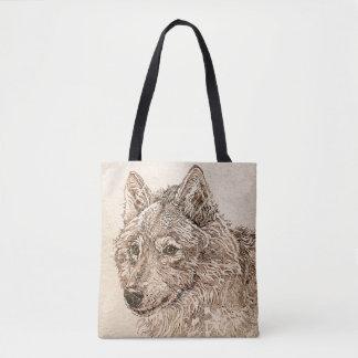Bolsa Tote Sacola do lobo cinzento