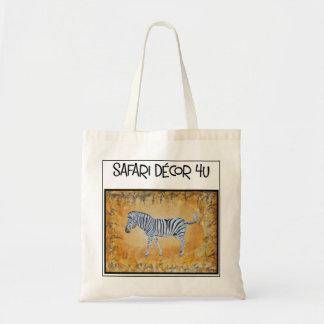 Bolsa Tote Sacola do logotipo da zebra