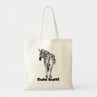 Bolsa Tote Sacola do logotipo da zebra do safari