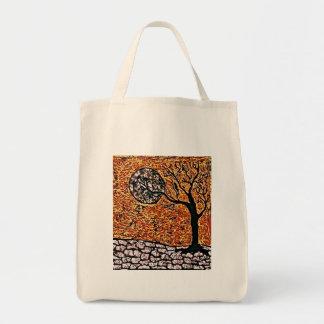 Bolsa Tote Sacola do mantimento com árvore