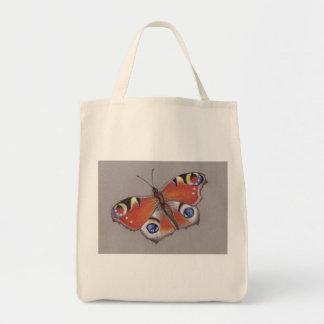 Bolsa Tote Sacola do mantimento da borboleta de pavão