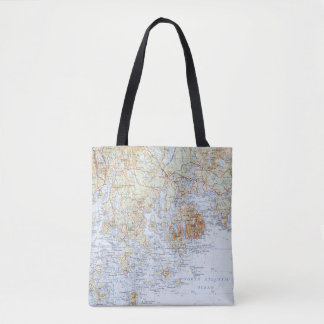 Bolsa Tote Sacola do mapa de Downeast Maine