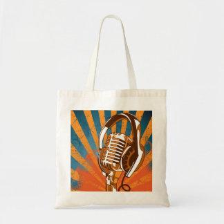 Bolsa Tote Sacola do microfone do vintage