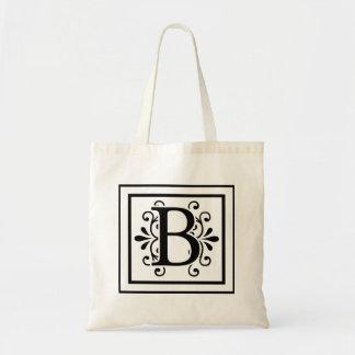 Bolsa Tote Sacola do monograma da letra B