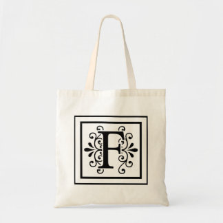 Bolsa Tote Sacola do monograma da letra F