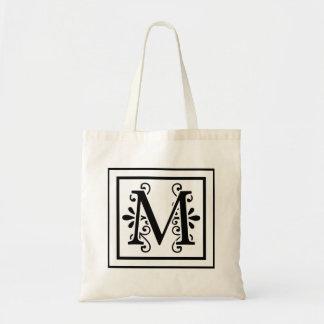 Bolsa Tote Sacola do monograma da letra M