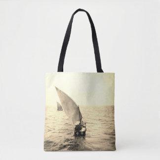 Bolsa Tote Sacola do motivo do oceano da foto do vintage do