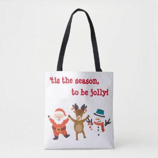 Bolsa Tote Sacola do Natal com caráteres da dança