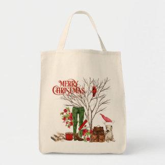 Bolsa Tote Sacola do Natal do caminhante com trouxa