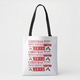 Bolsa Tote Sacola do Natal do Feliz Natal