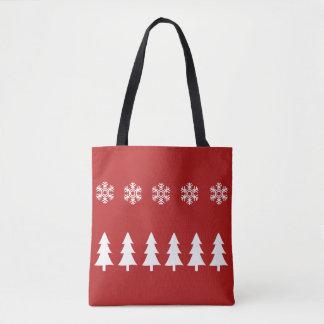 Bolsa Tote Sacola do Natal do país das maravilhas do inverno