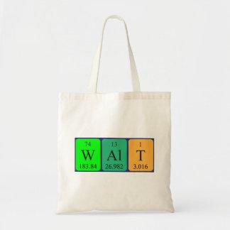 Bolsa Tote Sacola do nome da mesa periódica de Walt