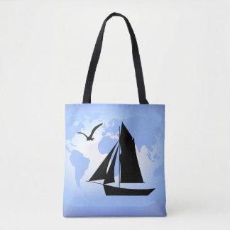 Bolsa Tote Sacola do oceano do mundo da navigação