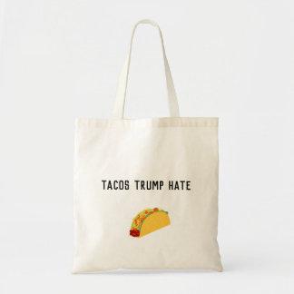 Bolsa Tote Sacola do ódio do trunfo do Tacos
