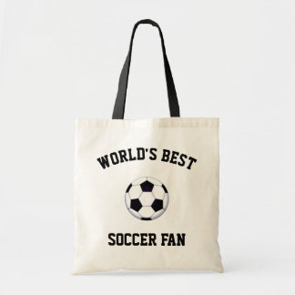 Bolsa Tote Sacola do orçamento do fã de futebol do mundo a