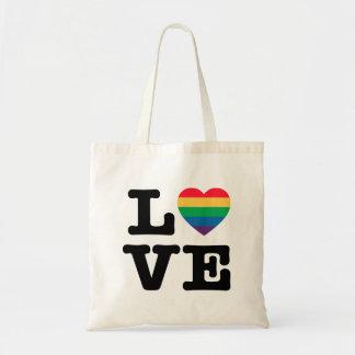 Bolsa Tote Sacola do orgulho do coração do amor