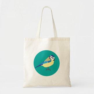 Bolsa Tote Sacola do pássaro do melharuco azul
