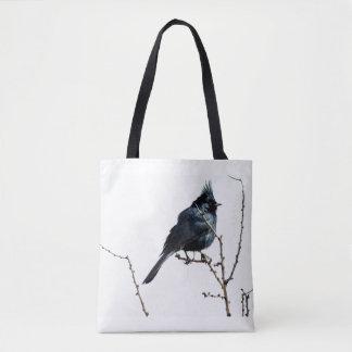 "Bolsa Tote ""Sacola do pássaro preto"""