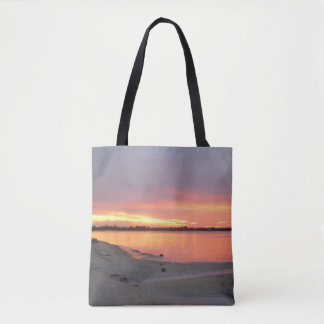 Bolsa Tote Sacola do por do sol do rio