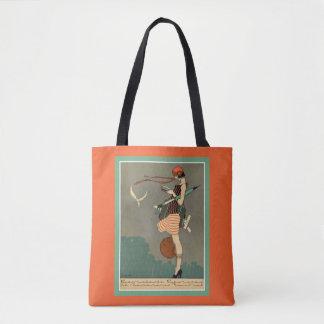 Bolsa Tote Sacola do poster do art deco do vintage