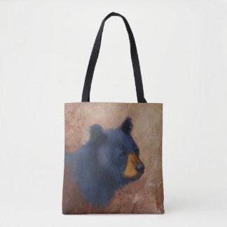 Bolsa Tote Sacola do retrato do urso preto