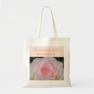 Bolsa Tote Sacola do rosa do branco e do rosa
