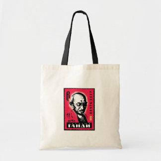 Bolsa Tote Sacola do russo do divertimento com selo de Gandhi
