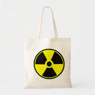 Bolsa Tote Sacola do símbolo da segurança da radiação da radi