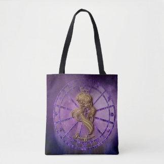 Bolsa Tote Sacola do sinal do zodíaco do Virgo
