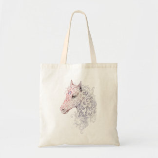 Bolsa Tote Sacola do tatuagem da cabeça de cavalo