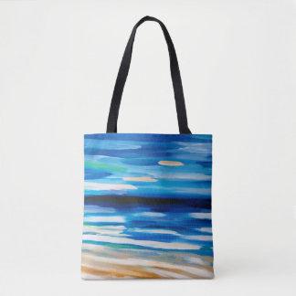 Bolsa Tote sacola do tema da praia