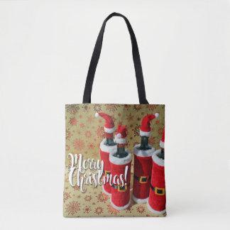 Bolsa Tote Sacola do vinho do Feliz Natal!