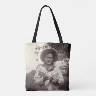 Bolsa Tote Sacola do vintage do 1920 de Havaí do jogador do