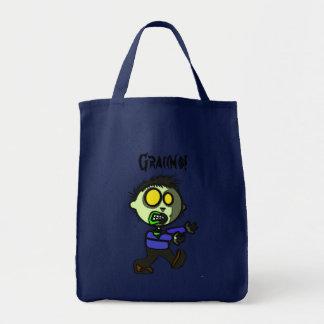 Bolsa Tote Sacola do zombi do Vegan
