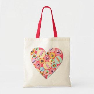 Bolsa Tote Sacola doce do coração do amor dos doces