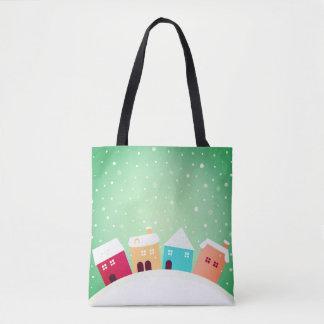 Bolsa Tote Sacola dos desenhistas do Feliz Natal