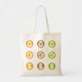 Bolsa Tote Sacola dos elementos do reciclagem