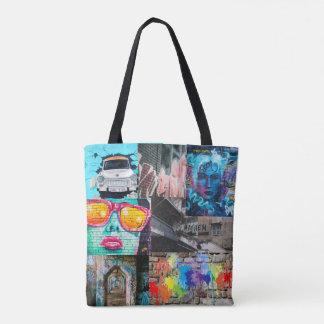 Bolsa Tote Sacola dos grafites da arte da rua da pintura de