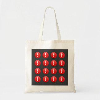 Bolsa Tote Sacola dos ícones da marca de exclamação
