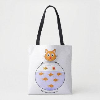 Bolsa Tote Sacola dos peixes do gato