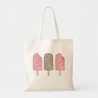 Bolsa Tote Sacola dos Popsicles do chocolate e da morango