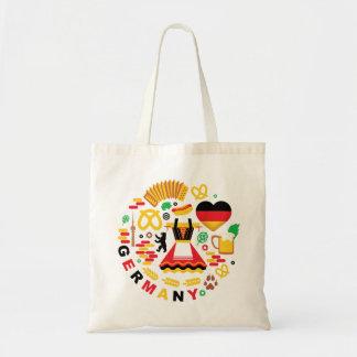 Bolsa Tote Sacola dos símbolos nacionais de Alemanha