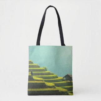 Bolsa Tote Sacola dos terraços do arroz