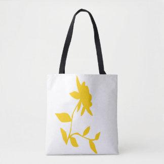 Bolsa Tote Sacola dourada da flor
