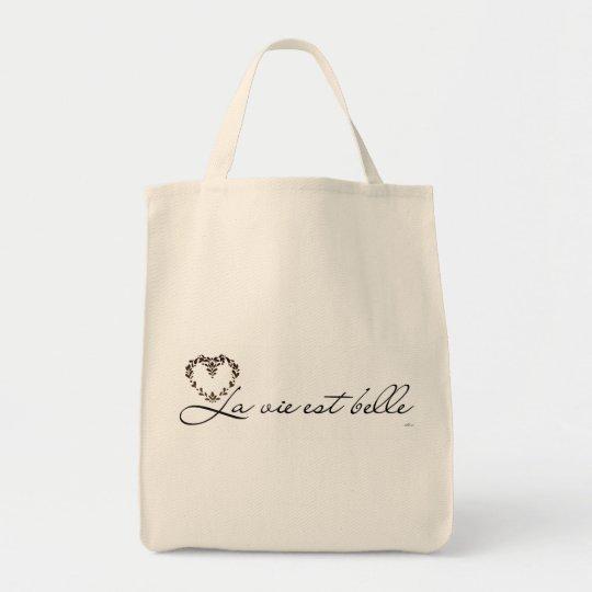 Bolsa Tote Sacola ecológica - A vida é bela